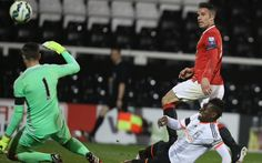 Robin van Persie scores for the U21s at Fulham