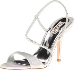 buy me Badgley Mischka Women's Viola Sandal, Silver Metallic, 9.5 M US