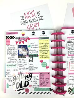 a busy birthday week in The Happy Planner™ of mambi Design Team member Chantal Stevens | me & my BIG ideas