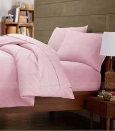Pink Double Egyptian Cotton Quilt Duvet Cover + Sheet Choice - 1000TC Double Duvet Covers, Single Duvet Cover, King Duvet, Queen Duvet, Egyptian Cotton Bedding, White Duvet, Quilt Cover Sets, Cotton Quilts, Bed Pillows