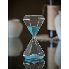 Diamond Shape Jade Sand Hourglass - 30 or 60 minute - Buy Online at JustHourglasses.com