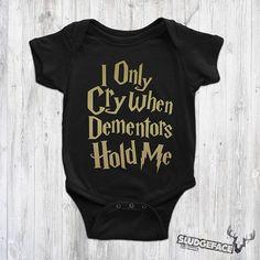 Harry Potter Dementors Bodysuit / Cool Harry Potter Baby / Harry Potter Glasses, Cute Harry Potter, Harry Potter Dementors, Baby Suit, Suits, Trending Outfits, Cool Stuff, Etsy, Clothes