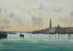 The Lagoon in Venice by Joseph Zbukvic