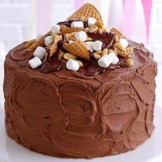 Rocky Road Cake Topper Creative Cake Decorating, Creative Cakes, Rocky Road Cake, Octopus Cake, Easy Homemade Cake, Powdered Sugar Icing, Dump Cake Recipes, Homemade Chocolate, Chocolate Cake