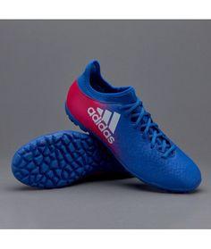 Adidas X 16.3 TF Suola Per Erba Sintetica Scarpe Da Calcio Blu Rosa Bianco