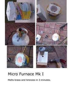 Building A Micro Furnace, Metal Melting For Beginners