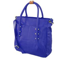 Blue Studded Tote by She & Josh