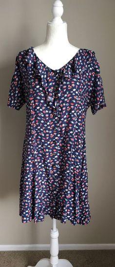 Vintage Gap Warehouse Blue Floral Dress Ruffles Detail Sz 14   Clothing, Shoes & Accessories, Women's Clothing, Dresses   eBay!