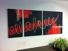 YAY' peintures abstraites Deco, Painting Inspiration, Neon Signs, Abstract, Abstract Paintings, How To Paint, Art Paintings, Art Deco, Toile