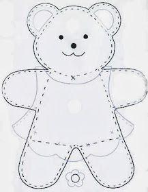 Amigas do Feltro! : Moldes de ursinhos