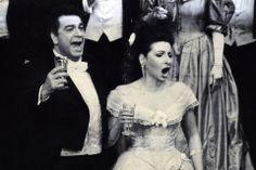 Lucia Aliberti with tenor Placido Domingo, in 'La Traviata'