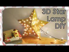 Room Decor - 3D Star Shape Lamp DIY | Sunny DIY - YouTube