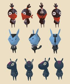 A few concepts I did for Knight Hood. Here are some quirky characters. I'll be uploading their hangout spot real soon. Also, sorry for lack up updates, moving, new job etc ^__^ Game Character Design, Character Creation, Character Design References, 3d Character, Character Design Inspiration, Character Concept, Concept Art, Design Alien, Pixel Art Games