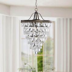 Cone Shape 4-light Antique Copper Crystal Chandelier - Overstock™ Shopping - Great Deals on Otis Designs Chandeliers & Pendants