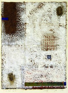 D-14.Mar.2002 37.5x27.5cm Mixed media/ paper making, painting, collage  林孝彦 HAYASHI Takahiko 2002