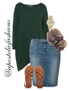 """Apostolic Fashions #1818"" by apostolicfashions on Polyvore featuring Amandine, Lee, Billabong and Michael Kors"