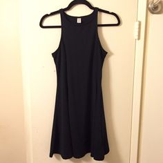 Black Skater Dress Old Navy Black skater dress from Old Navy. Super cute. Not faded. Great condition . Purchased from another posher, I never wore. No trades. Old Navy Dresses Mini