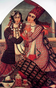 Lovers, Qajar painting. http://www.persianpaintings.com/qajargalleries/index.htm