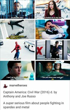 The level of sass. i can't handle it. <----- Especially the picture of Tony facepalming