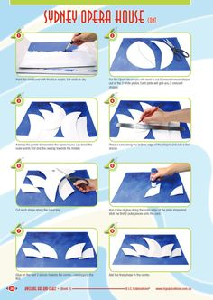 Sydney Opera House with paper plates awesome art and craft freebie from RIC Publications how to do