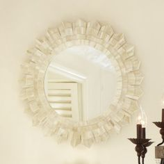 Ballard Designs Bone Sunburst Mirror