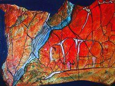 Buffalo river.. metalic foil art.  Available at Bluerock gallery in Black diamond. Alberta.