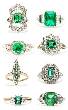 Siempre bellas las esmeraldas...