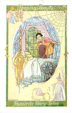 L. R. Steele ~ vintage postcard Sleeping Beauty