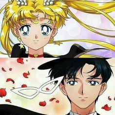 Sailor Moon and Tuexdo Mask