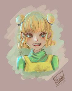 My cute little girl #girl #cute #illustration #mochi #warm #color
