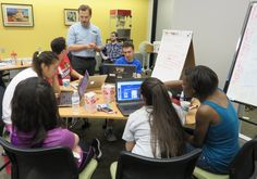 WEEK OF MAKING: COLLABORATIVE CODING: PARTICIPATING IN A COMMUNITY APPATHON What do you expect to happen when you shut 25 teens in a room for an entire rainy Saturday? I wasn't sure when I arrived at Skokie Public Library at 9:00am on May 30 for their first ever Community Appathon, even though I'd attended several planning meetings.