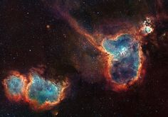 The Heart and Soul Nebulas. Located in the Casseiopia Constellation