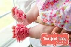 Craftaholics Anonymous® | How to Make Barefoot Sandals for Babies