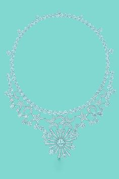 Tiffany & Co. Schlumberger® Stars and Moons necklace of diamonds in platinum. #TiffanyPinterest