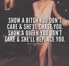 The bitch chased him and he ran back to the queen who made him kiss the ground she walked on. Boss Lady Quotes, Babe Quotes, Bitch Quotes, Sassy Quotes, Badass Quotes, Queen Quotes, Mood Quotes, Attitude Quotes, Girl Quotes