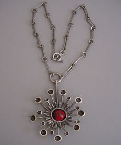 Lysgards, pewter pendant necklace, Denmark