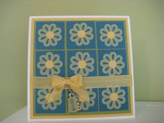 Blossom Bouquet Triple Layer card- cute idea with punches!