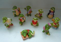 Sammlung Ü-Ei-Figuren Krokoschule 1991 Überraschungseier
