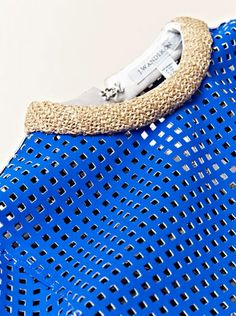 Perforated leather from JW Anderson ♥ Textile Texture, Fabric Textures, Fashion Details, Fashion Trends, Fashion Designer, Sports Luxe, Fabric Manipulation, Mode Inspiration, High Fashion