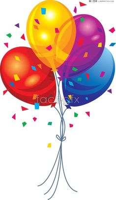 Four-color balloon festival EPS vector