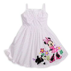 Authentic  Disney Minnie Mouse and Figaro Sun Dress for Girls White Size:3 #Disney #Sundress #CasualFormalParty