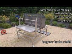 Tourne Broche motorisé INOX sur mesure - YouTube