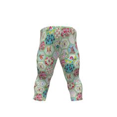 Brindille and Twig Baby Leggings made with Spoonflower designs on Sprout Patterns.  Woodland Bunny Nursery baby leggings by Brindille & Twig Sprout Patterns