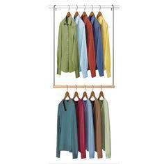 "Found it at Wayfair - Closet 2.1"" Deep Double Hanging Closet Rod http://www.wayfair.com/daily-sales/p/Campus-Storage-%26-Organization-Closet-2.1%22-Deep-Double-Hanging-Closet-Rod~LYK1015~E21101.html?refid=SBP.rBAjD1RqhFQeozZnEjDJAiDmaKaO9UB4pYQlZLPiR-U"
