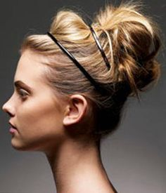 Love this swept back, bumpy, and semi-messy style