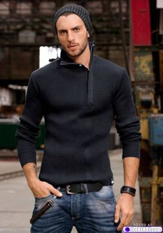 ♂ Masculine & elegance man's fashion wear man with black sweater