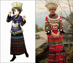 Traditional Clothes of Miao People in China