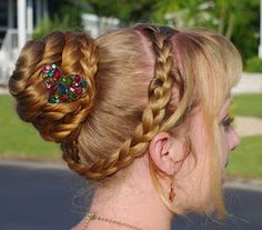 Braids & Hairstyles for Super Long Hair: Florida Herringbone Bun