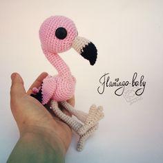 птичка фламинго крючком схема амигуруми