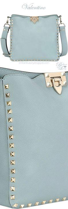 Brilliant Luxury ♦ Valentino Garavani Rockstud Small Leather Hobo Bag